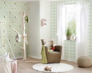 Livingwalls non-woven wallpaper «Brown, Green, Grey» 381192