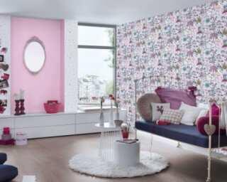 Livingwalls non-woven wallpaper «Black, Coloured, Pink» 381203