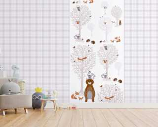 Livingwalls non-woven wallpaper «Brown, Grey, White» 381341
