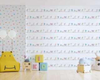 Livingwalls non-woven wallpaper «Coloured, White» 381371