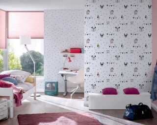 Livingwalls non-woven wallpaper «Black, Pink, White» 381381