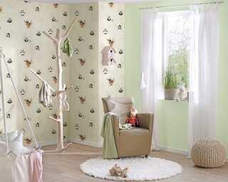 Livingwalls non-woven wallpaper «Black, Green, White» 381421
