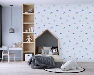 Livingwalls non-woven wallpaper «Blue, Grey» 381441