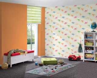 Livingwalls non-woven wallpaper «Coloured, Yellow» 381461