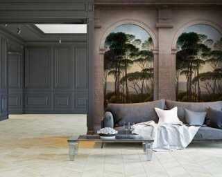 Livingwalls non-woven wallpaper «Coloured, Green, Grey» 382491