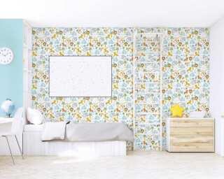 Livingwalls non-woven wallpaper «Uni, Green» 383112