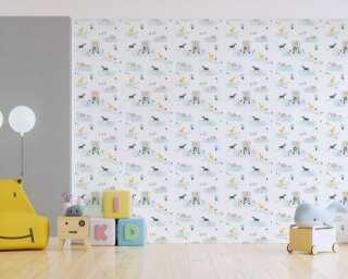 Livingwalls non-woven wallpaper «Uni, Yellow» 383143