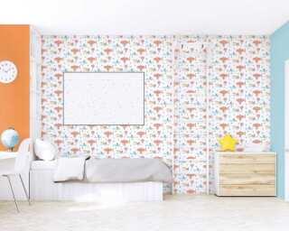 Livingwalls Vliestapete «Uni, Orange» 383266