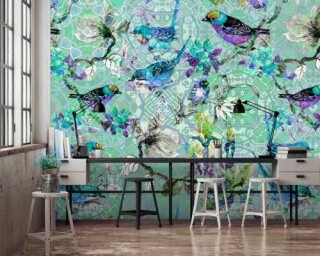 Photo wallpaper «mosaic birds 3» DD110256