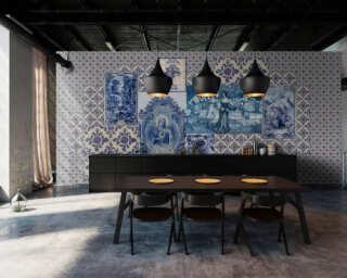 Photo wallpaper «azulejos 1» DD114017