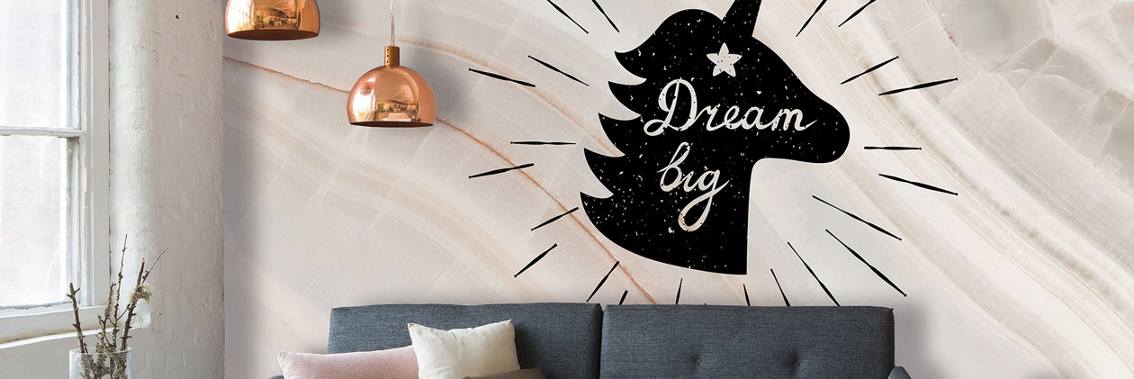 «The Magic Unicorns» wallpaper - Fototapeten mit Einhorn-Motiven