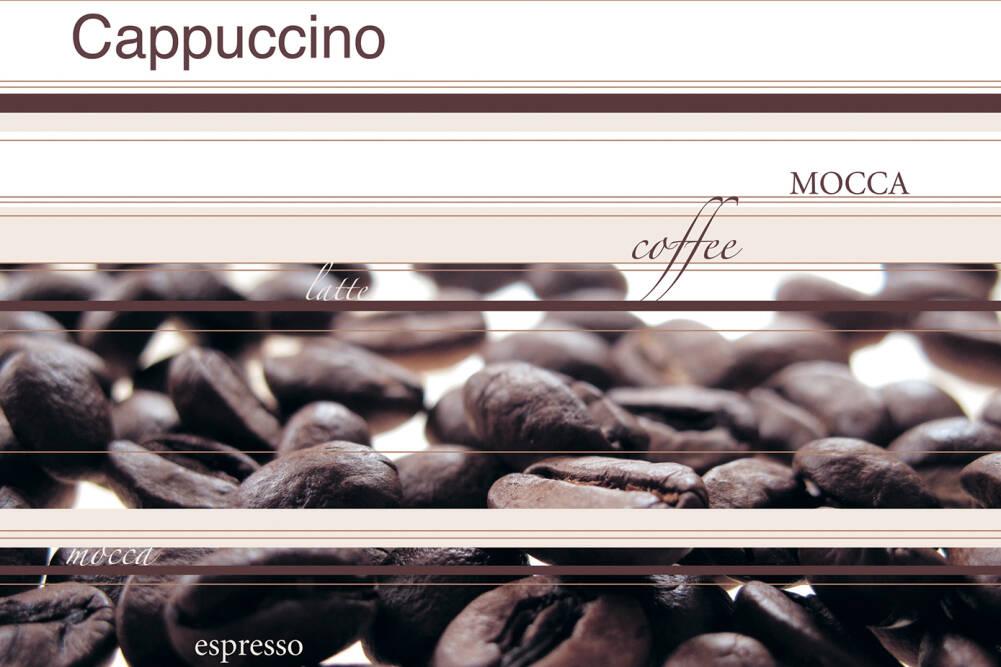 cappuccino wohnzimmer:Livingwalls Fototapete «Coffee» (XL) 033153: Fototapete, Braun