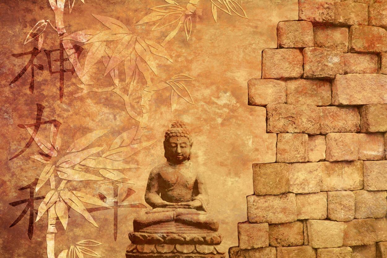 Livingwalls Fototapete «buddha In Meditation» 036060 Feng Shui Schlafzimmer Fototapete