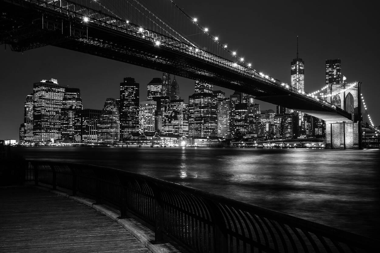 Architects Paper Photo Wallpaper Brooklyn Bridge By Night