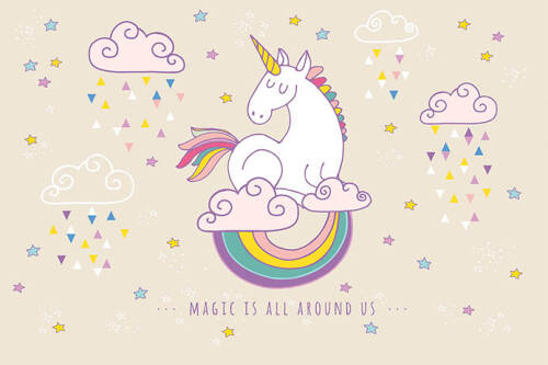 Livingwalls Фотообои Rainbow Unicorn M 470932
