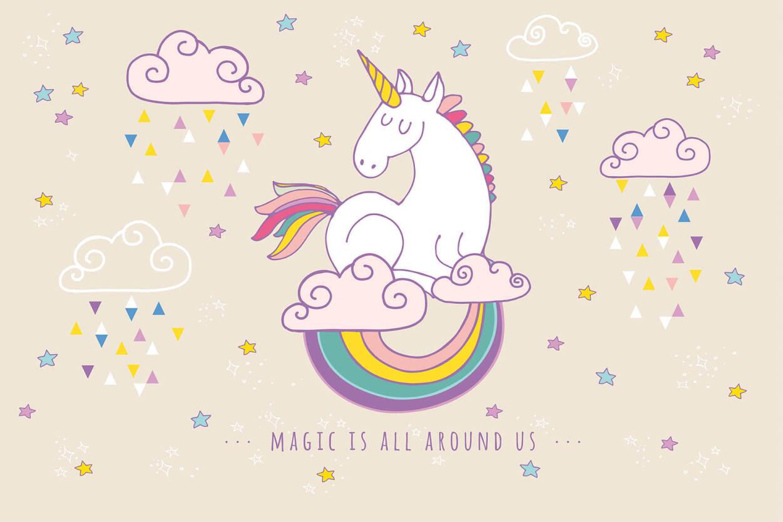 Livingwalls Photo Wallpaper 171 Rainbow Unicorn 187 470932