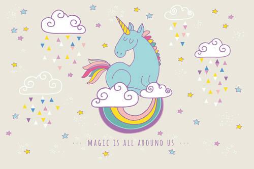 Livingwalls Фотообои Rainbow Unicorn M 470933