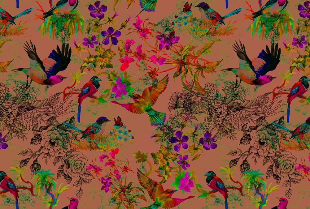 Kathrin und Mark Patel impression numérique funky birds 3 DD110186