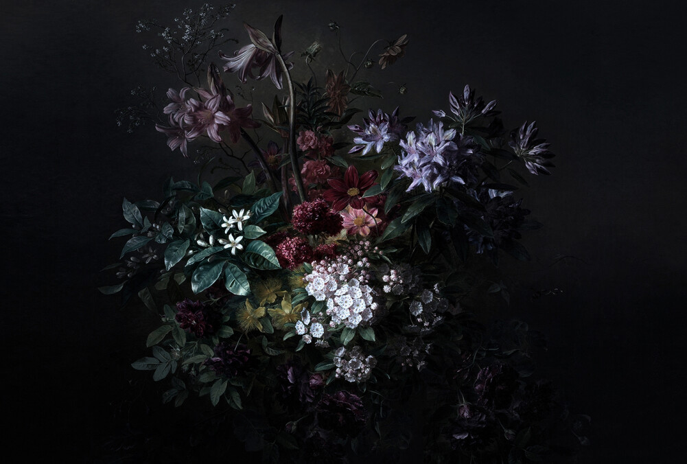 Kathrin und Mark Patel Fototapete bouquet noir 2 DD110636