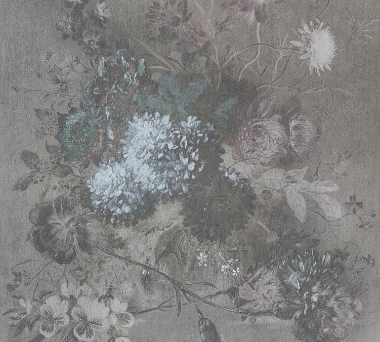 Kathrin und Mark Patel Photo wallpaper bouquet gris 2 DD110721