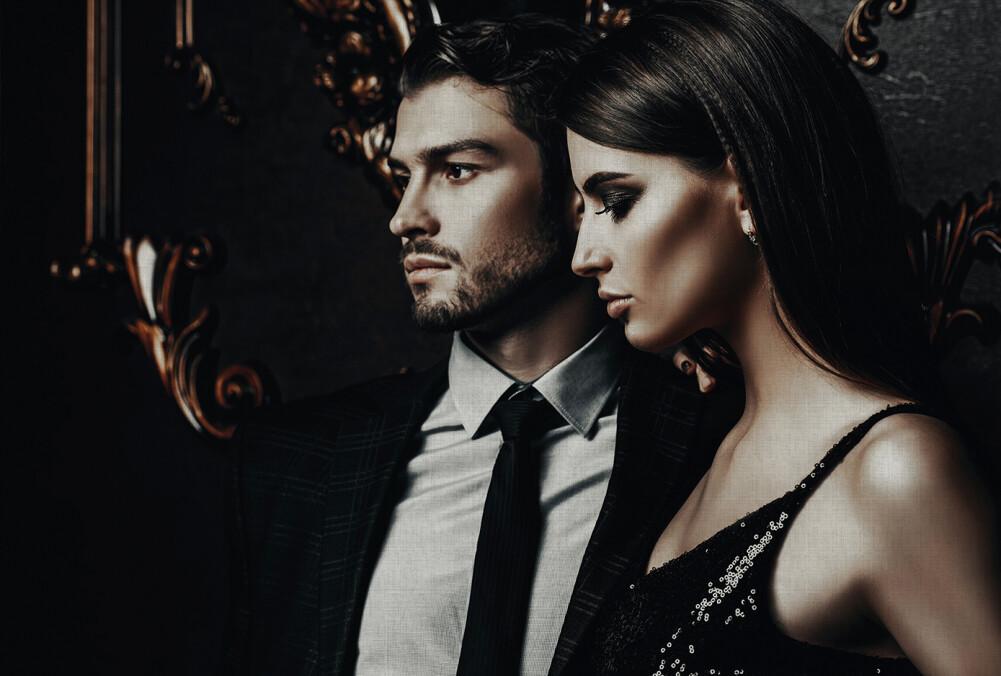 Kathrin und Mark Patel Fototapete black tie 1 DD113257