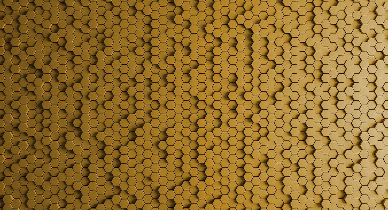 Kathrin und Mark Patel Fototapete honeycomb 1 DD113322