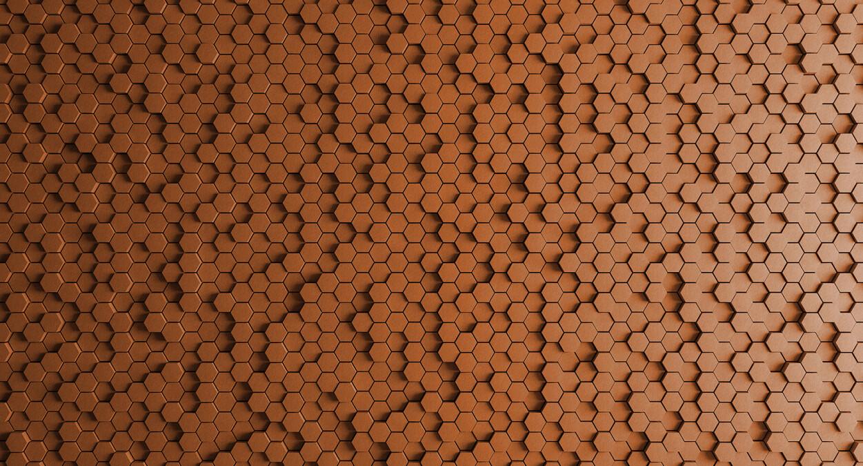Kathrin und Mark Patel Fototapete honeycomb 2 DD113327
