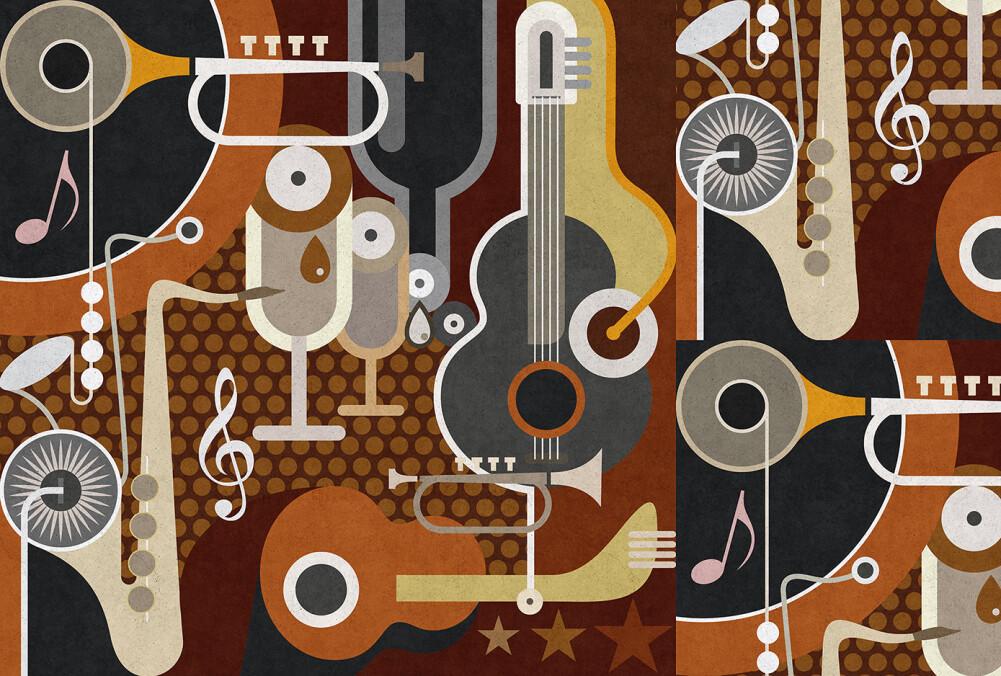 Kathrin und Mark Patel Fototapete wall of sound1 DD113333