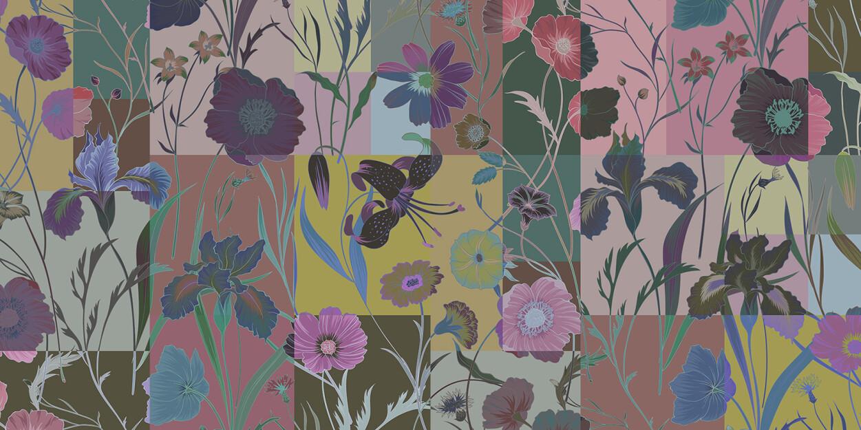Kathrin und Mark Patel Fototapete floral patch 3 DD114237