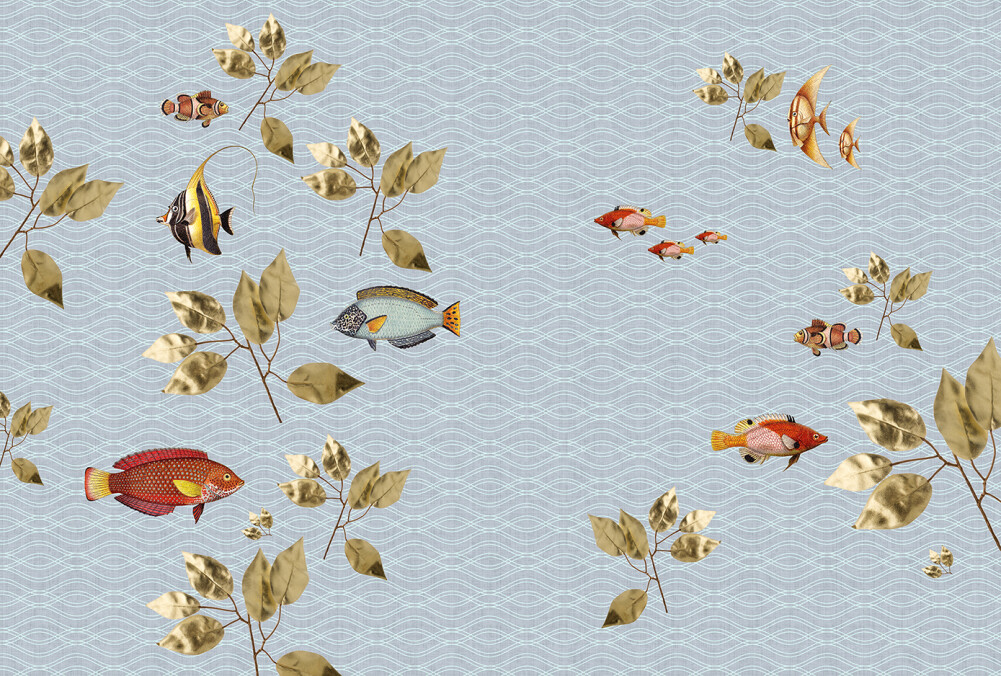 Kathrin und Mark Patel Photo wallpaper brillant fish1 DD114337