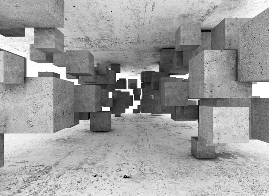 Livingwalls Фотообои ConcreteTetris DD118742