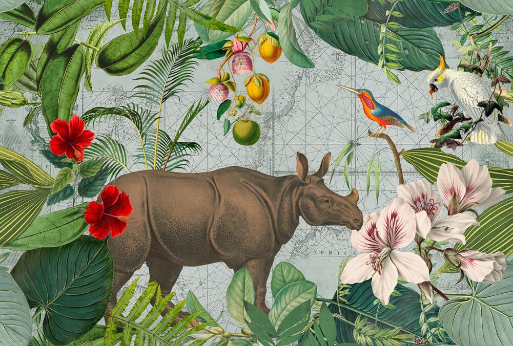 Livingwalls Fototapete JungleRhino DD119725