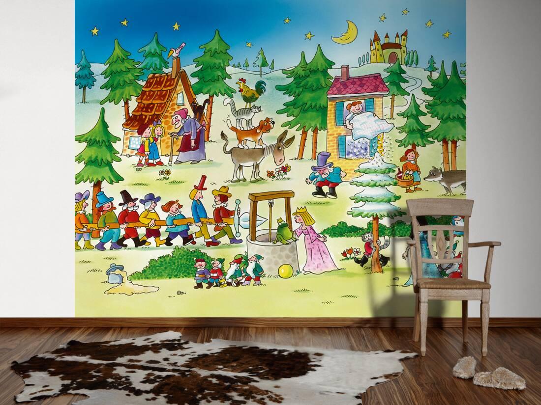 livingwalls fototapete m rchenland kindertapete l 045072. Black Bedroom Furniture Sets. Home Design Ideas