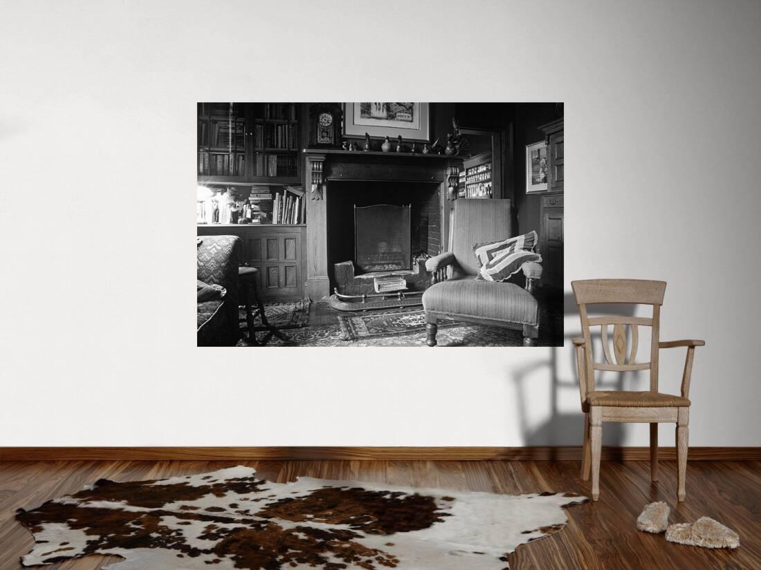 architects paper fototapete wohnzimmer mit kamin m 470076. Black Bedroom Furniture Sets. Home Design Ideas