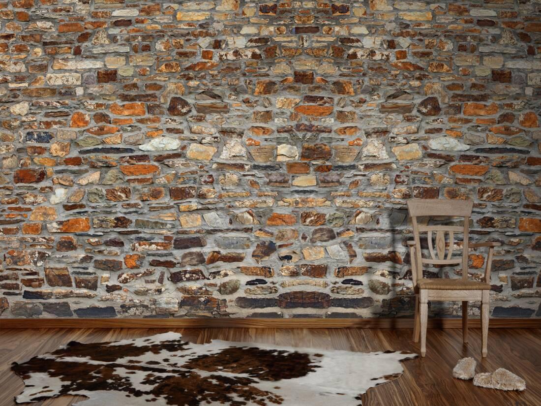 Architects paper fototapete «natursteinwand» 470118