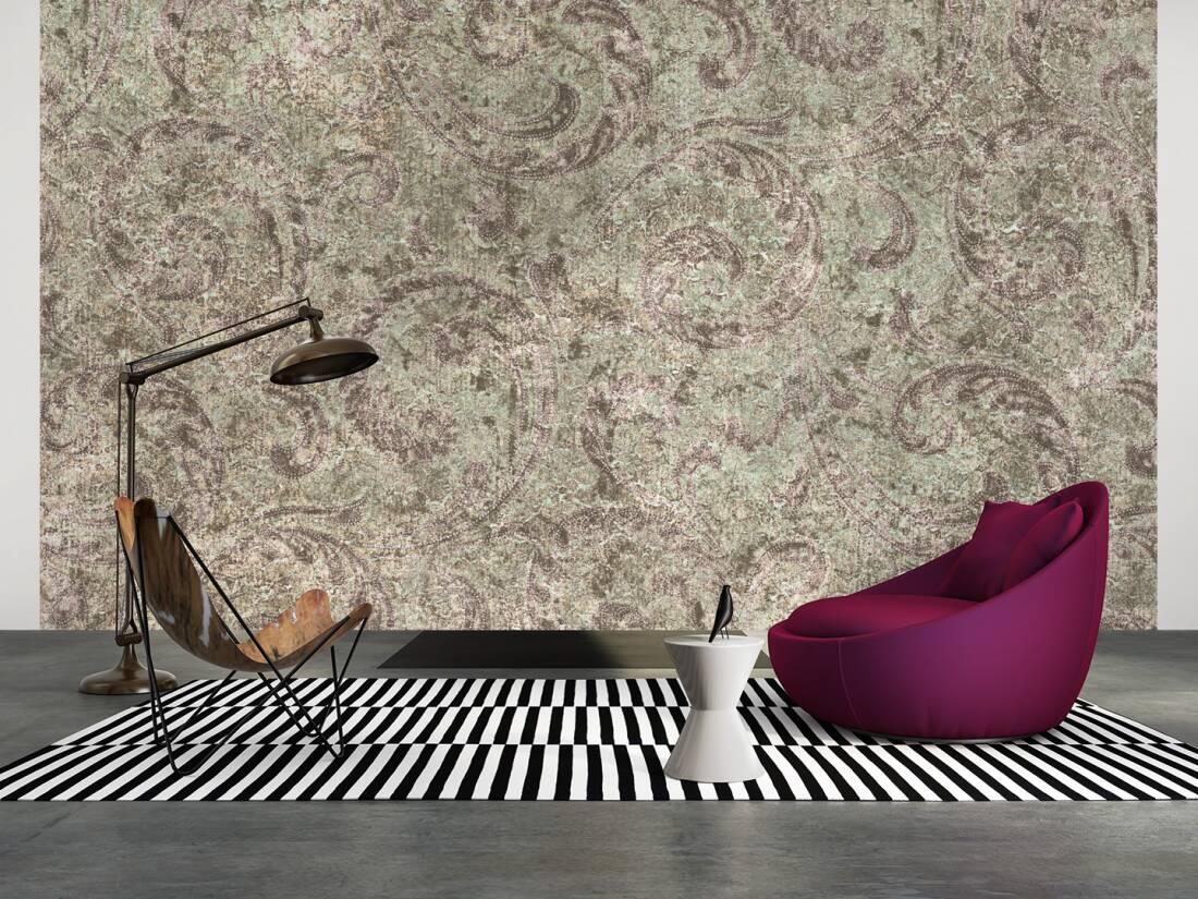 livingwalls fototapete vintage ornament 036740. Black Bedroom Furniture Sets. Home Design Ideas