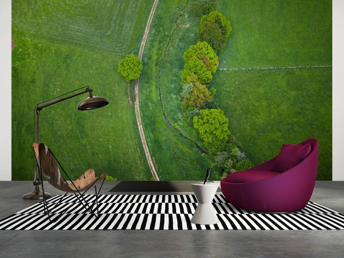 Architects paper fototapete «grüne landschaft, luftbild xxl» 470419