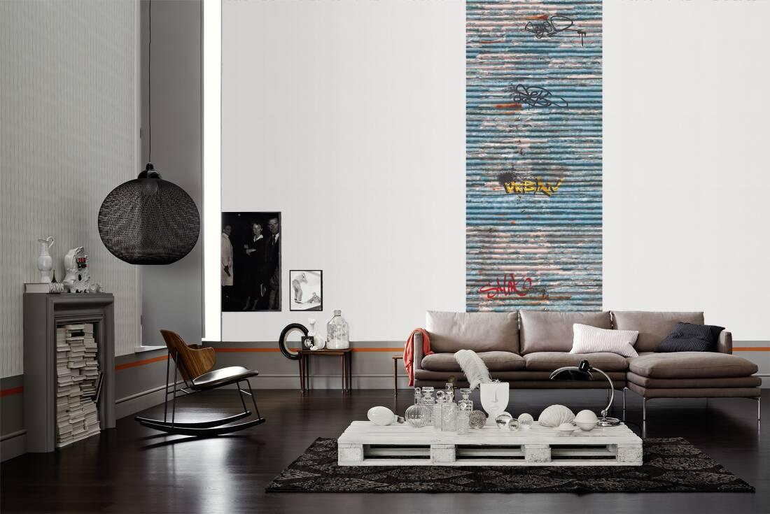 lut ce photo wallpaper tole ondul e 304538. Black Bedroom Furniture Sets. Home Design Ideas