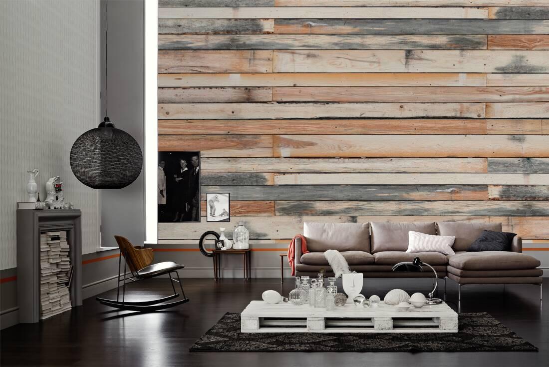 architects paper fototapete holzwand 470427. Black Bedroom Furniture Sets. Home Design Ideas