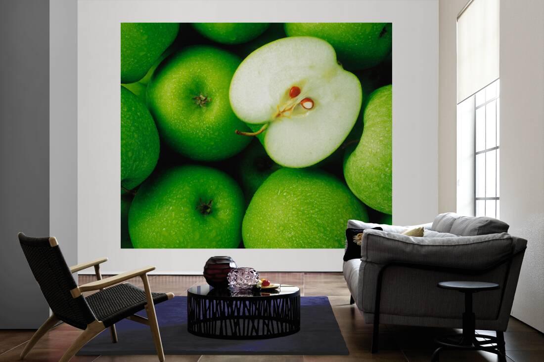 Livingwalls fototapete «grüne Äpfel l» 033012