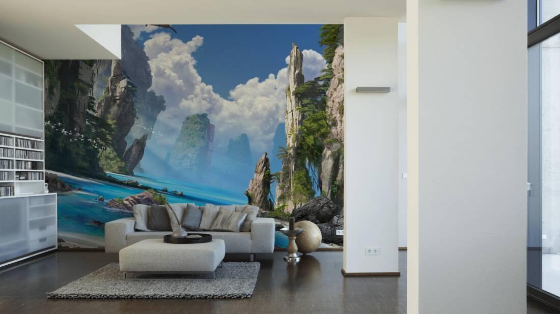 Livingwalls Fototapete Dreamscape 030020; simuliert auf der Wand