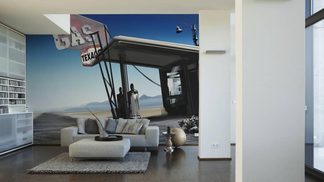 Livingwalls Fototapete Lost Highway 030050; simuliert auf der Wand