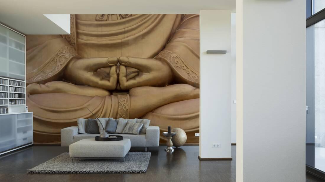 Livingwalls Fototapete Buddha 030110; simuliert auf der Wand