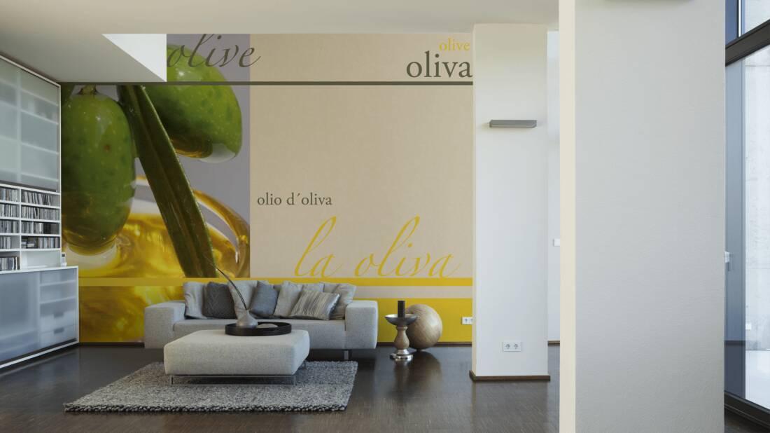 Livingwalls Fototapete Olive (M) 033161; simuliert auf der Wand