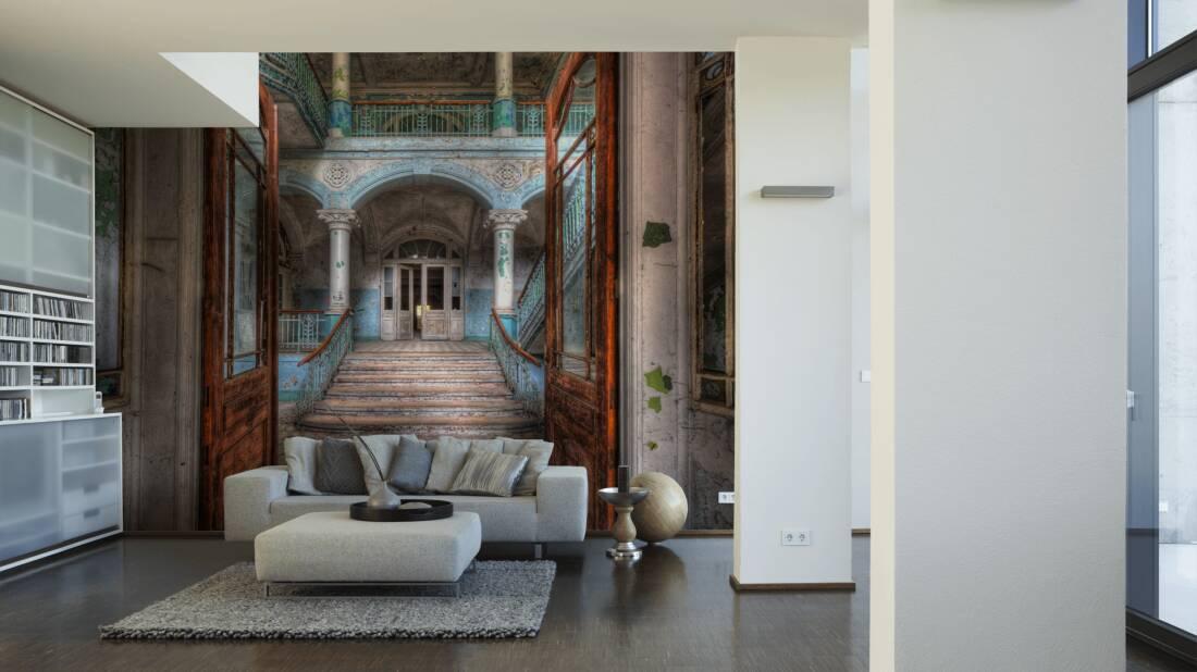 Livingwalls Fototapete Vintage Villa Entrance 036020; simuliert auf der Wand