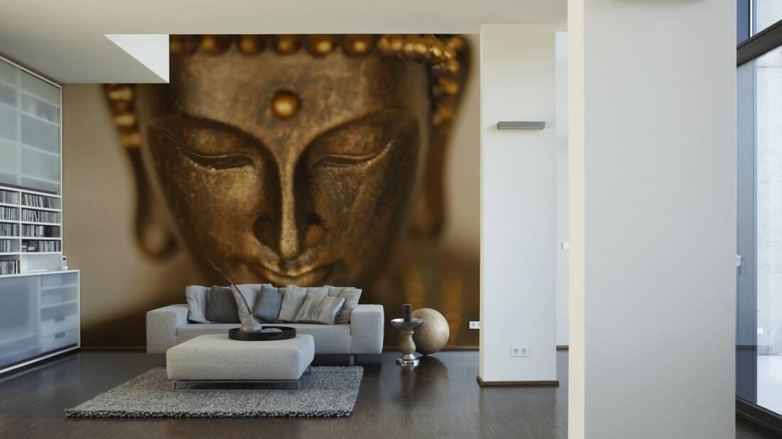 Livingwalls Fototapete Buddha in portrait 036390; simuliert auf der Wand