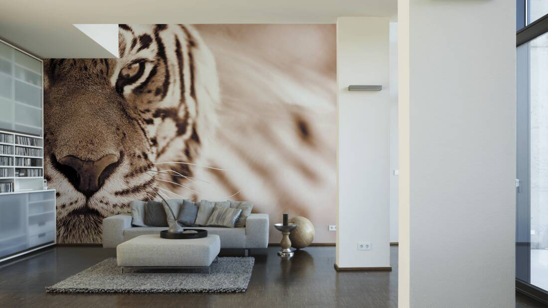 Livingwalls Fototapete Tiger 036420; simuliert auf der Wand