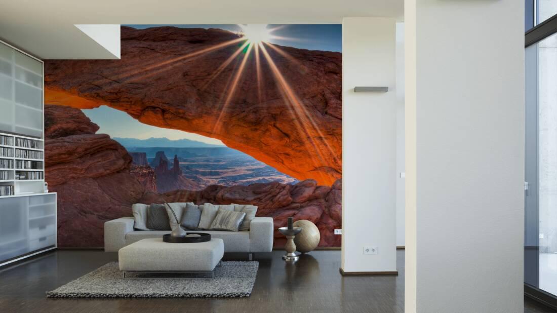 Livingwalls Fototapete Mesa arch 036460; simuliert auf der Wand