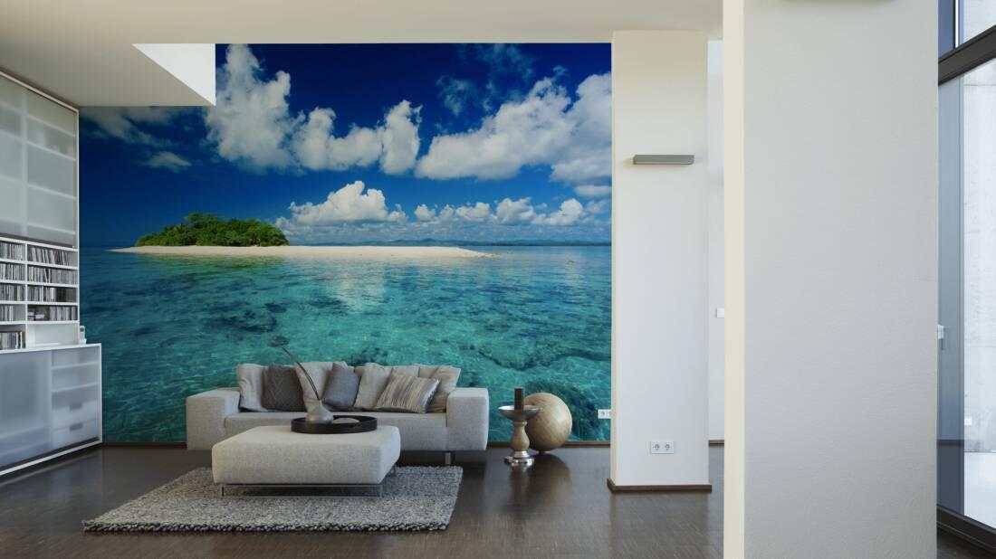Livingwalls Fototapete South sea island 036480; simuliert auf der Wand
