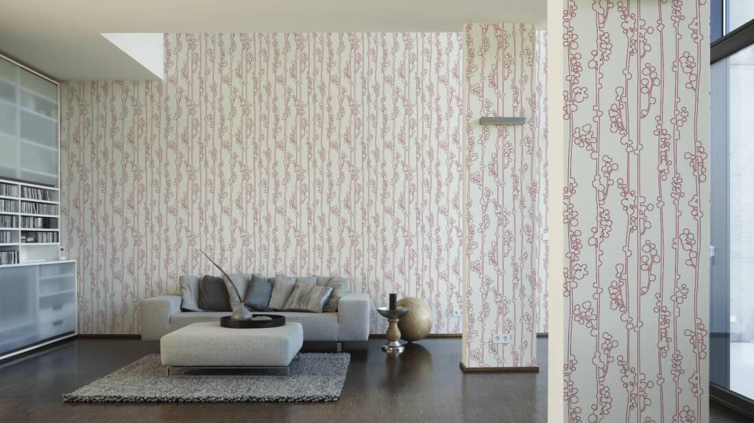 Schöner Wohnen Tapete 150684; simuliert auf der Wand